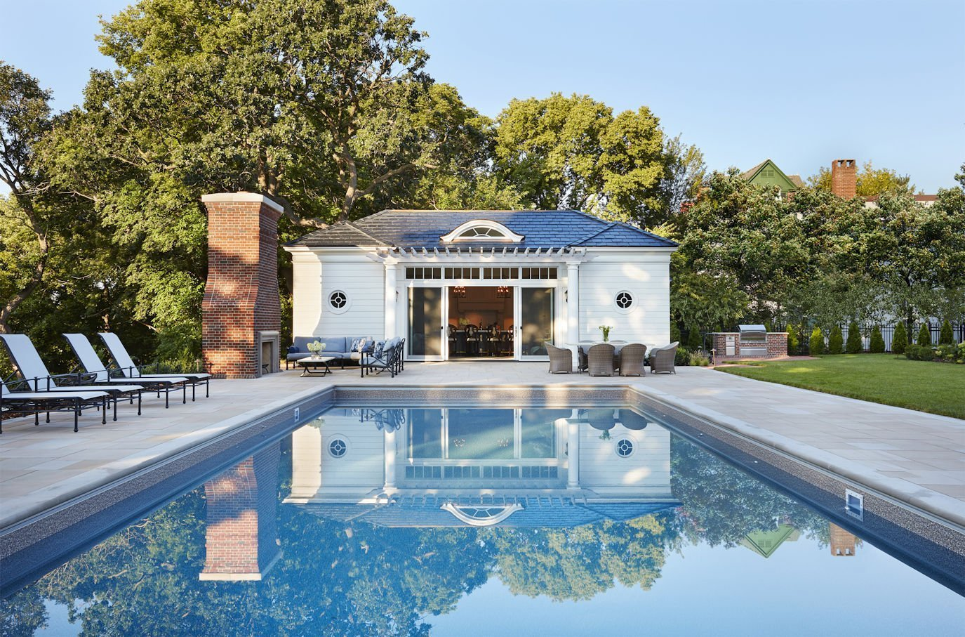 Crocus Hill Pool House - Charlie & Co. Design