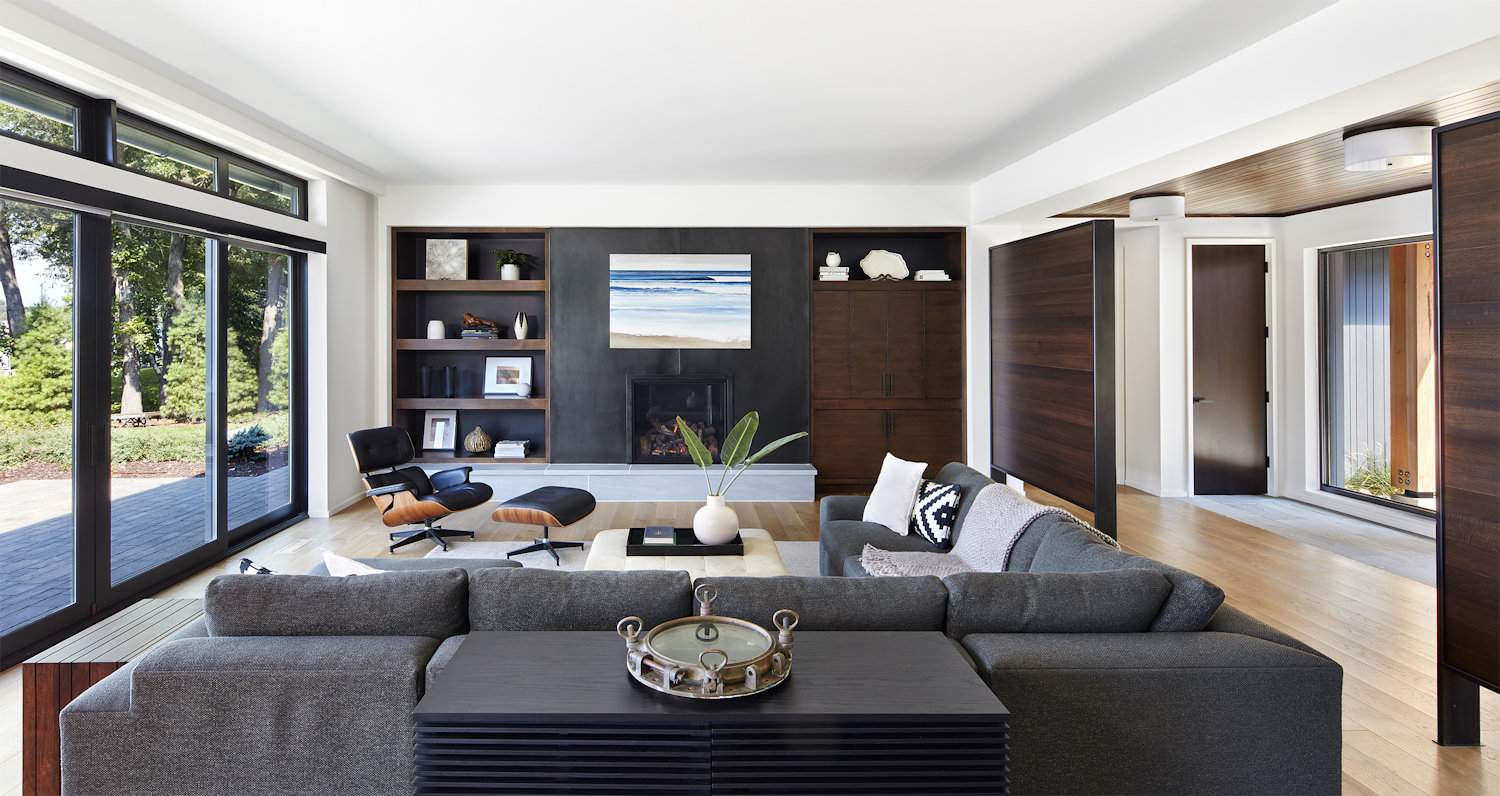 Lake Minnetonka Modern Salt Box living room