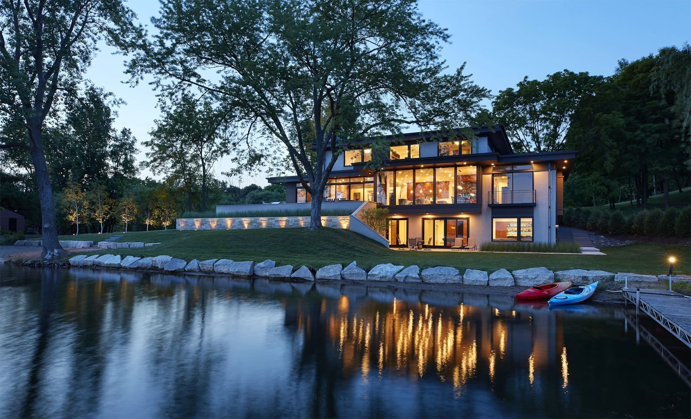 Christmas Lake Contemporary style home