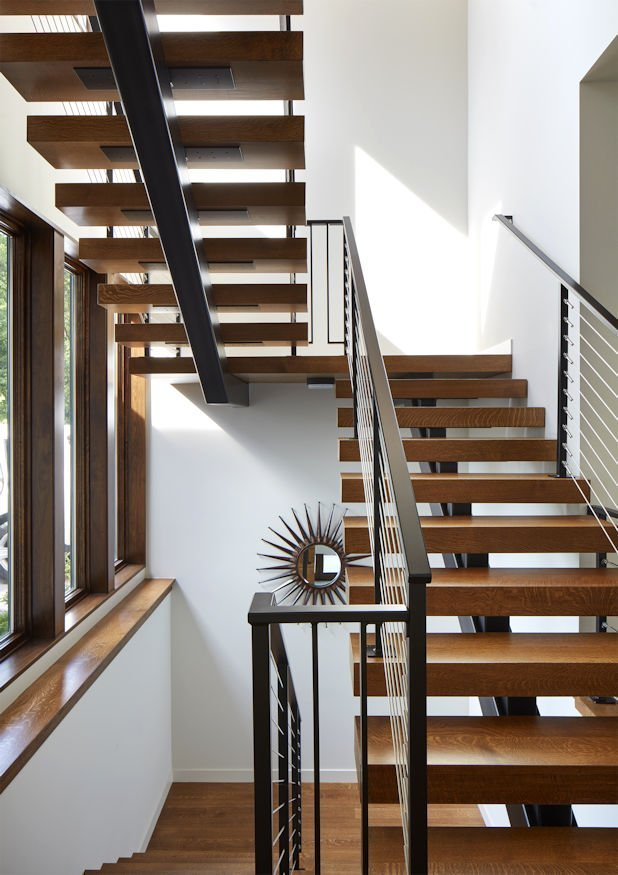 Christmas Lake Contemporary stairway