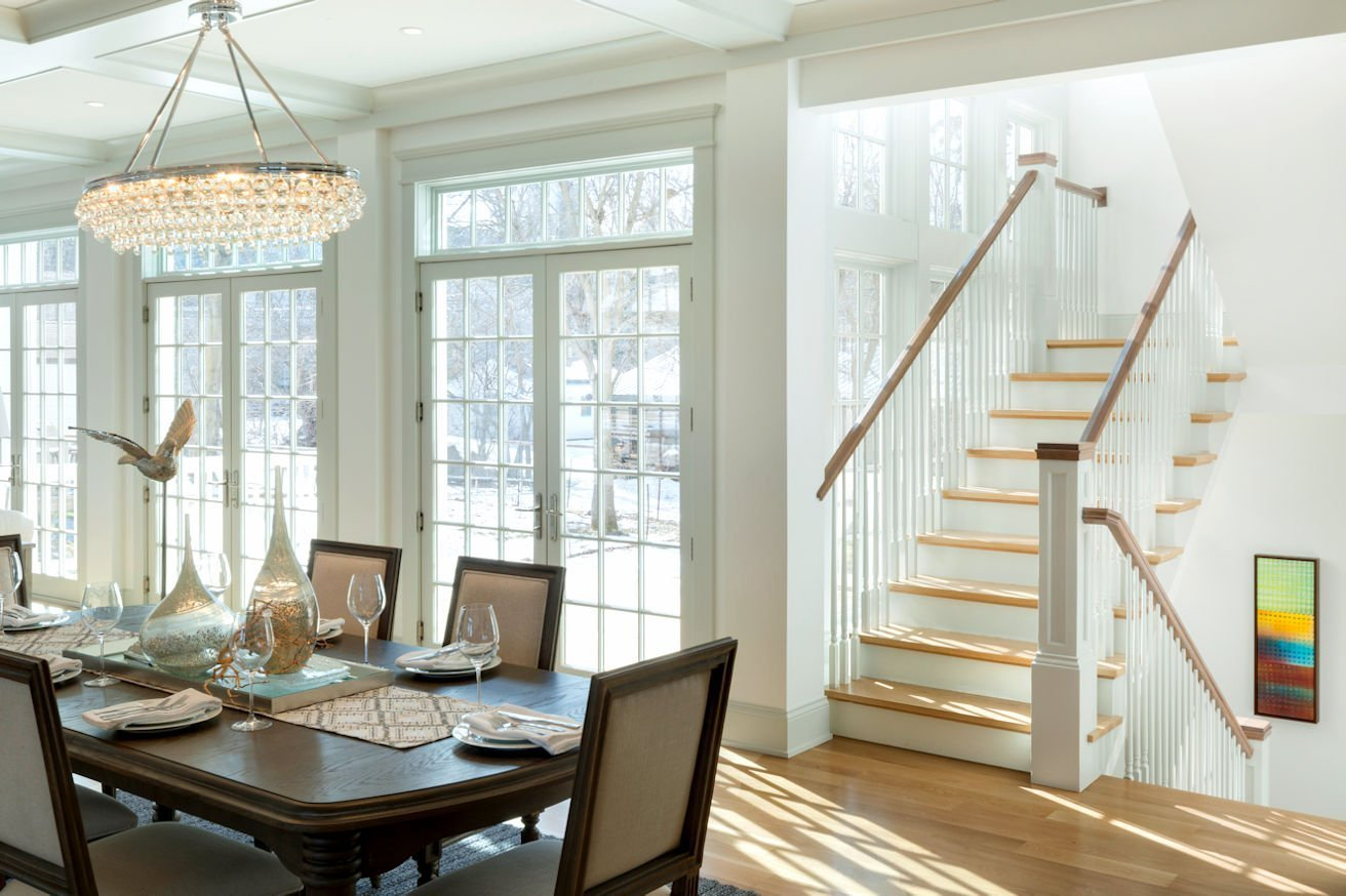 Excelsior Shingle Style dining room