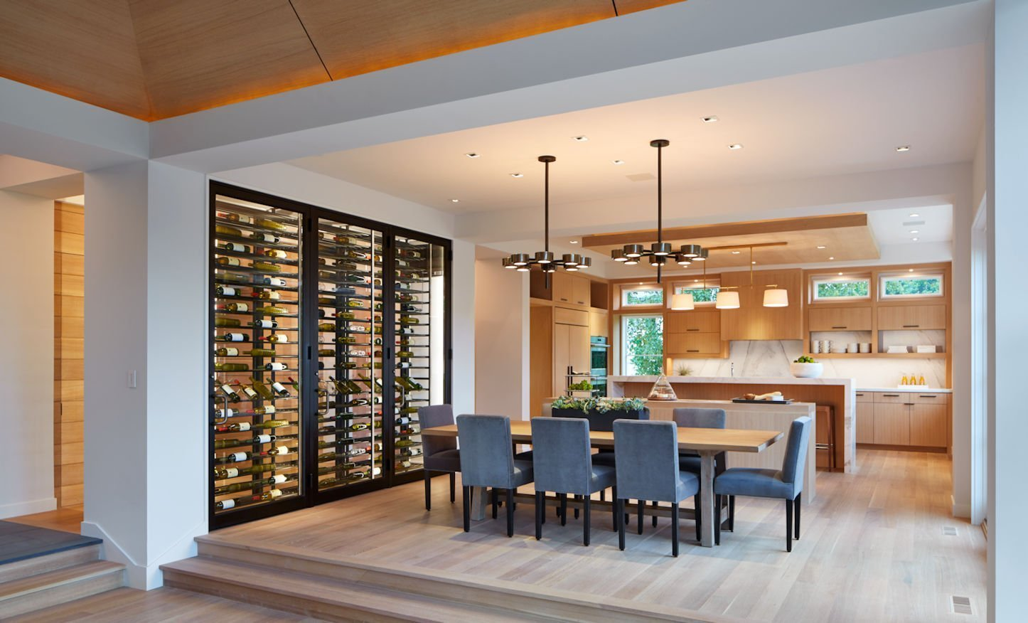 Minnetonka Modern wine shelf