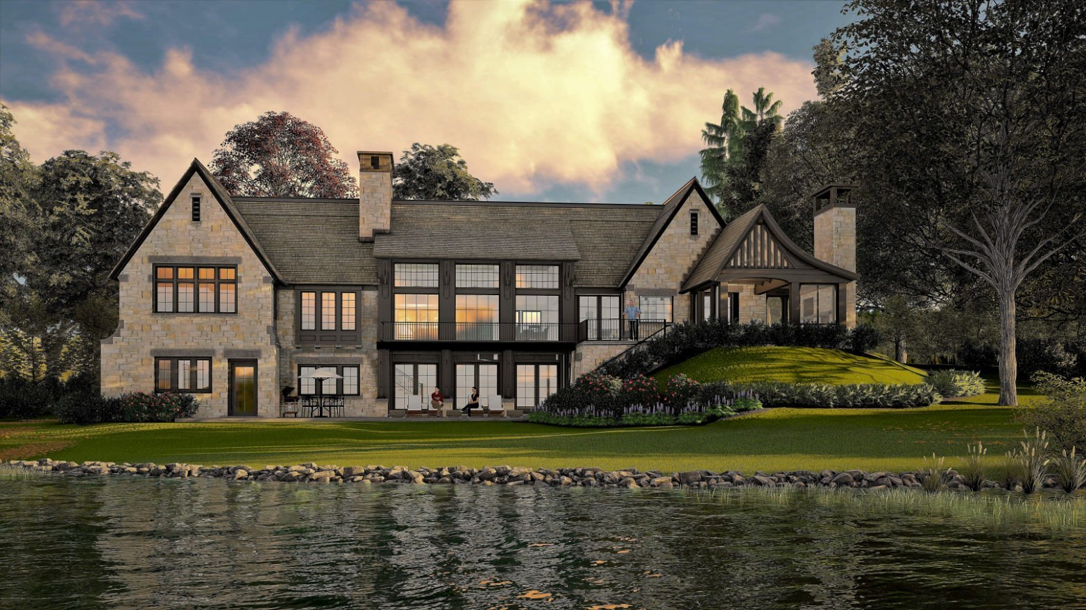 Lakeside Cottage rendering