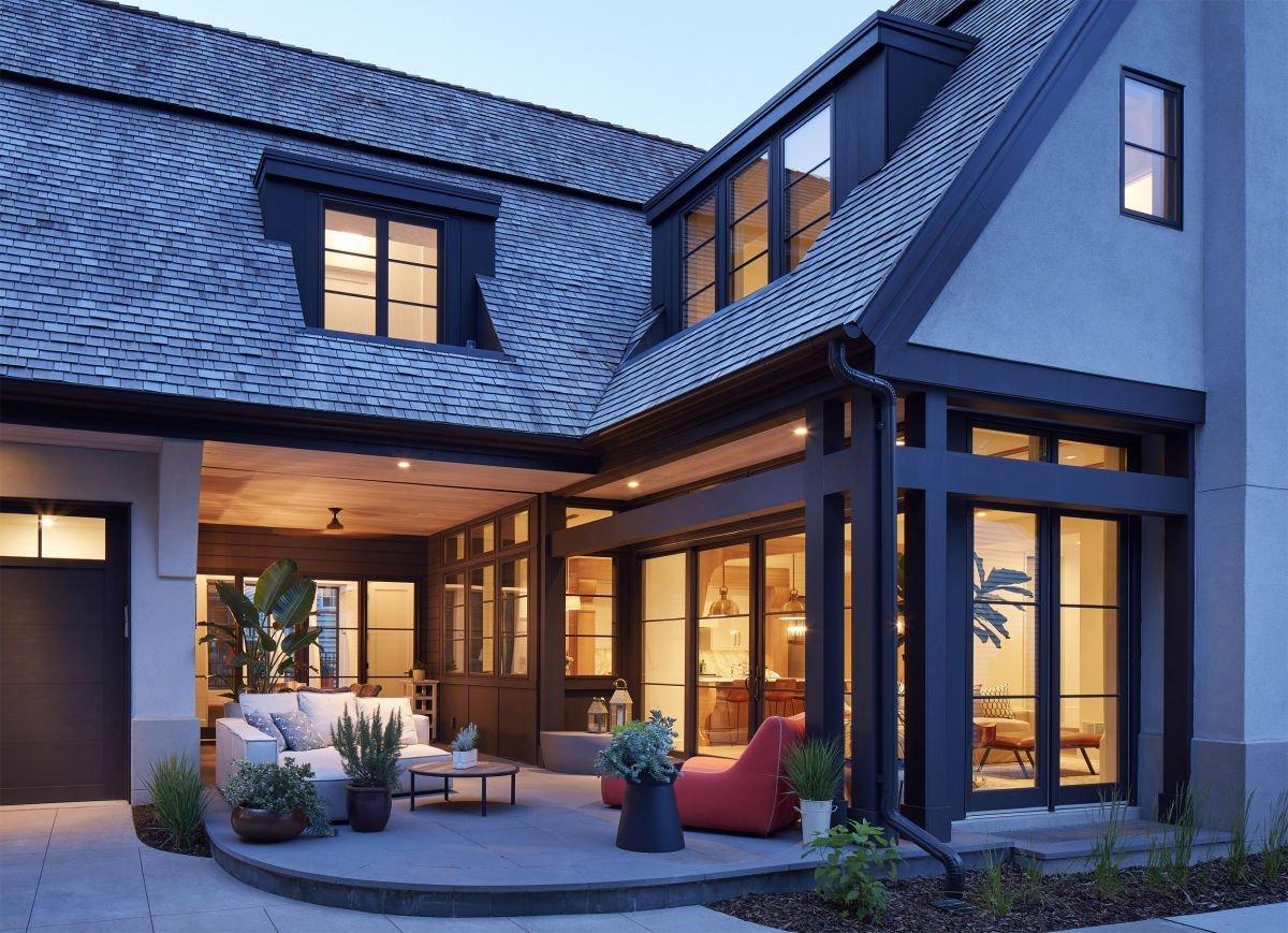 Modern Scottish Cottage patio