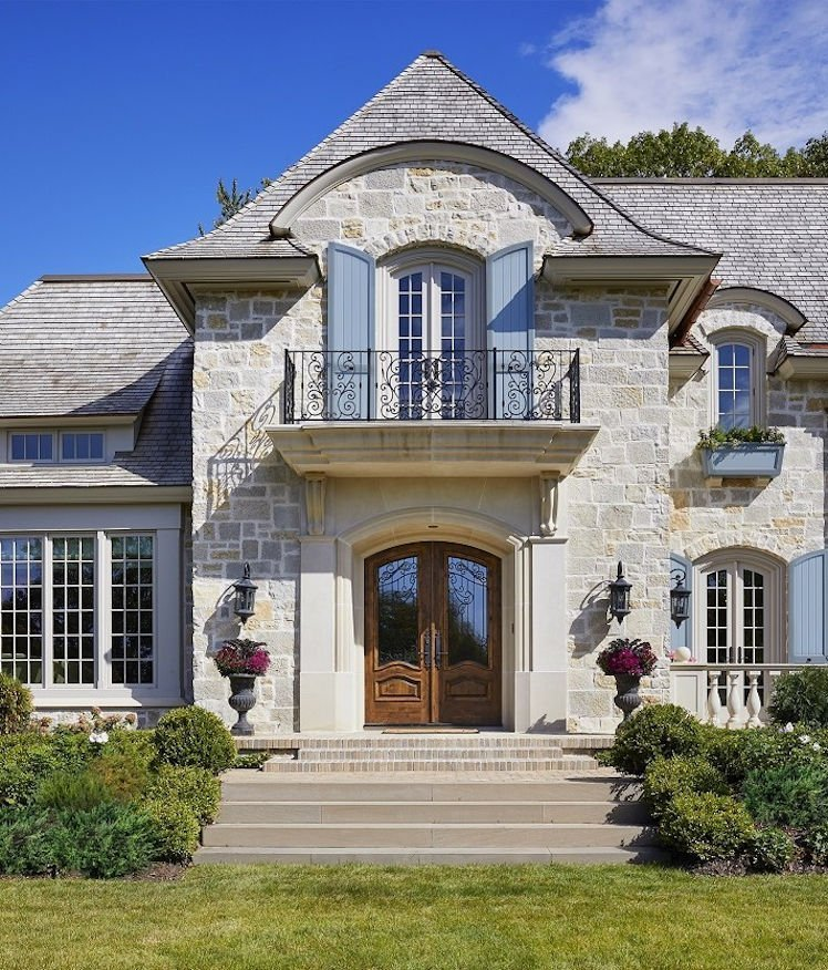 St. Paul French Country home grand entry