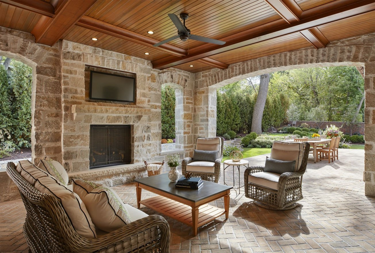 St. Paul French Country outdoor entertainment center