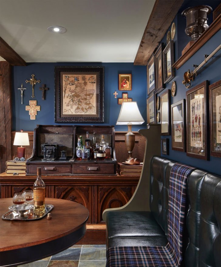 St. Paul Tudor Renovation antique bar