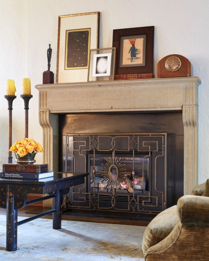 St. Paul Tudor Renovation fireplace