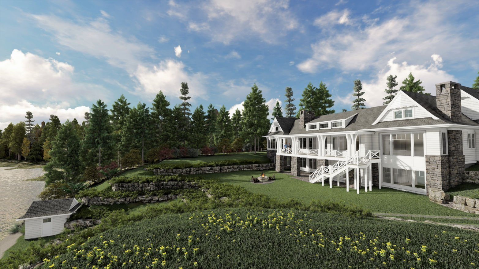 Whitefish Retreat draft renderings