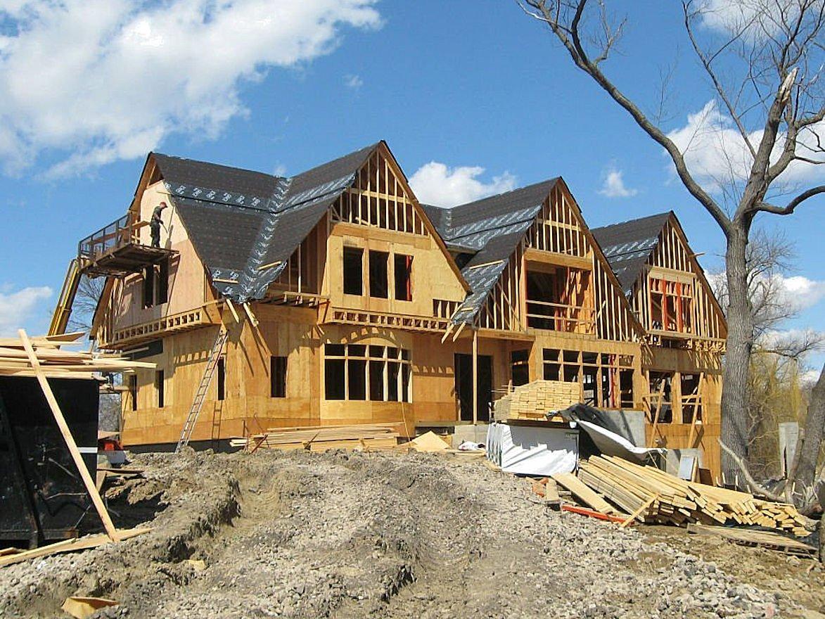 Minnetonka Shingle Style home under construction