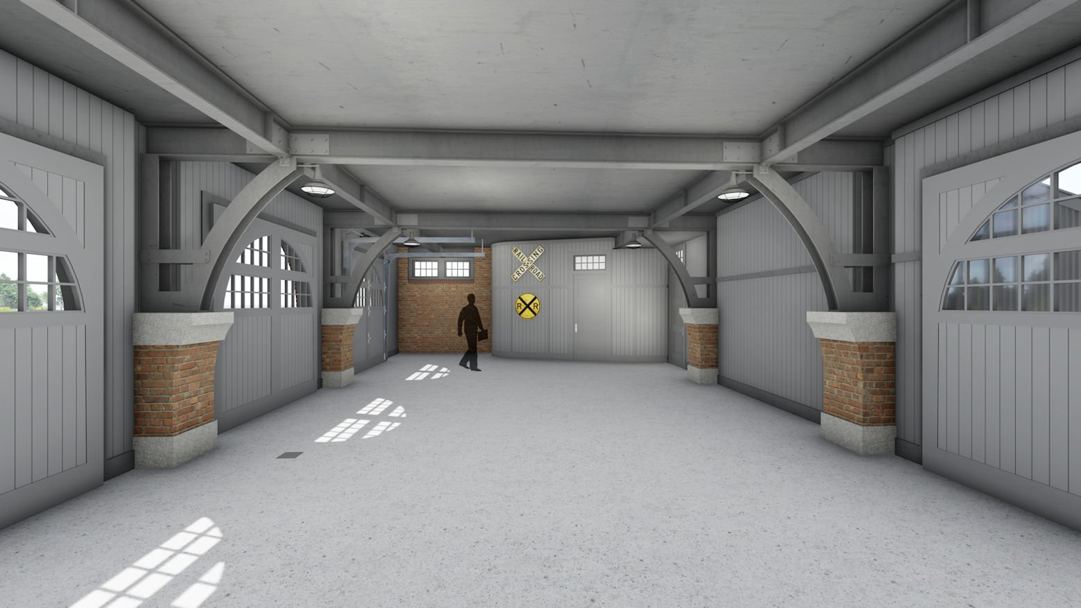 North Shore Compound rendering of garage interior